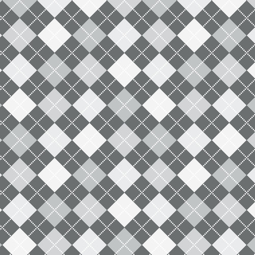 Westcott Diamond Plaid Art Canvas Backdrop with Hook-and-Loop Attachment (3.5 x 3.5', Gray)