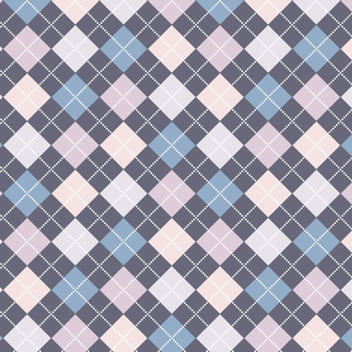 Westcott Diamond Plaid Art Canvas Backdrop with Hook-and-Loop Attachment (3.5 x 3.5', Blue)