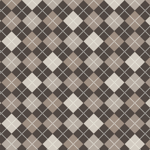 Westcott Diamond Plaid Art Canvas Backdrop with Hook-and-Loop Attachment (3.5 x 3.5', Mocha)