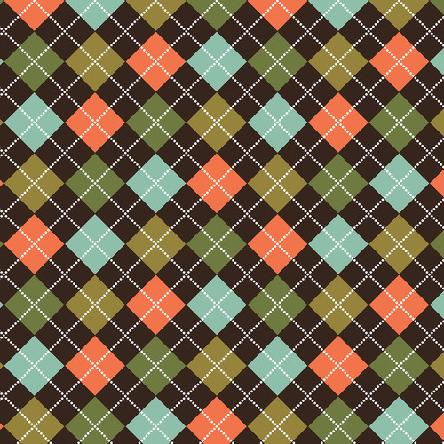 Westcott Diamond Plaid Art Canvas Backdrop with Hook-and-Loop Attachment (3.5 x 3.5', Orange)