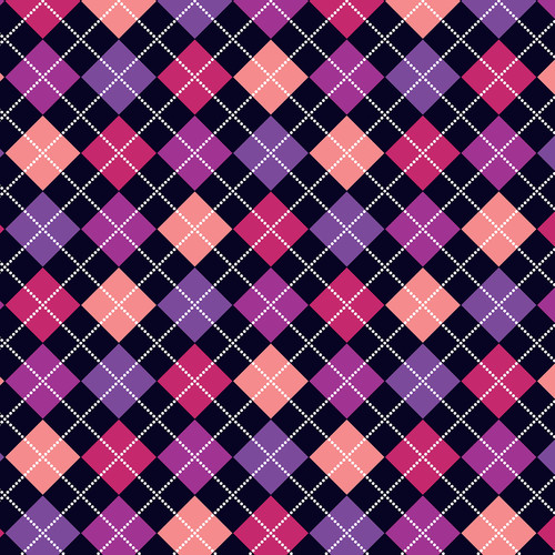 Westcott Diamond Plaid Art Canvas Backdrop with Hook-and-Loop Attachment (3.5 x 3.5', Purple)