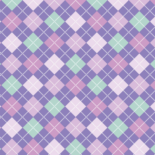 Westcott Diamond Plaid Matte Vinyl Backdrop with Hook-and-Loop Attachment (3.5 x 3.5', Orchid)
