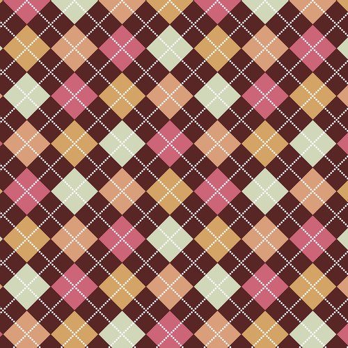 Westcott Diamond Plaid Matte Vinyl Backdrop with Hook-and-Loop Attachment (3.5 x 3.5', Brown)