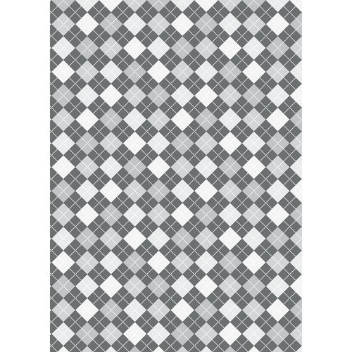 Westcott Diamond Plaid Art Canvas Backdrop with Grommets (5 x 7', Gray)