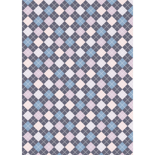 Westcott Diamond Plaid Matte Vinyl Backdrop with Grommets (5 x 7', Blue)