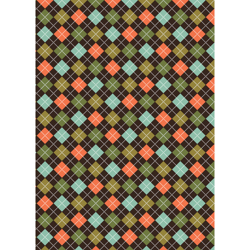 Westcott Diamond Plaid Matte Vinyl Backdrop with Grommets (5 x 7', Orange)