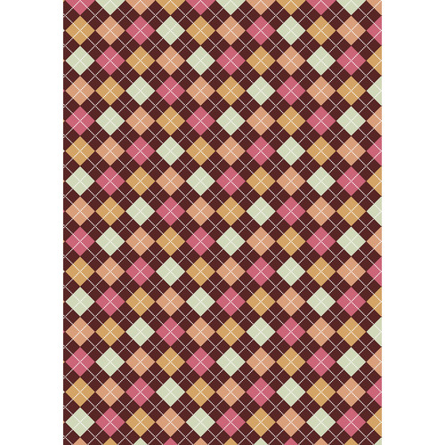 Westcott Diamond Plaid Matte Vinyl Backdrop with Grommets (5 x 7', Brown)