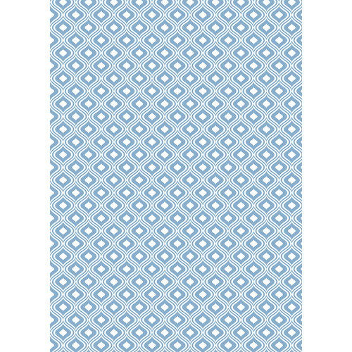 Westcott Mystic Pattern Matte Vinyl Backdrop with Grommets (5 x 7', Blue)