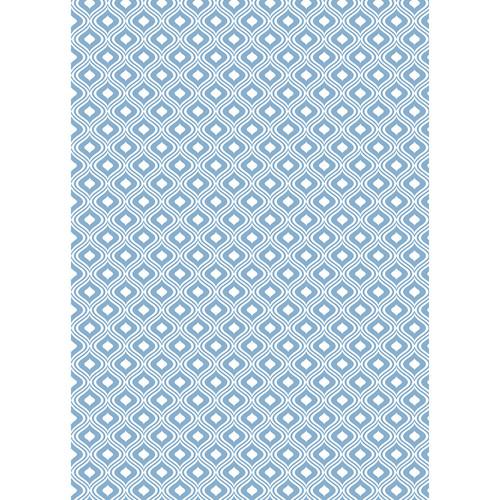Westcott Mystic Pattern Matte Vinyl Backdrop with Grommets (5 x 7', Blue)