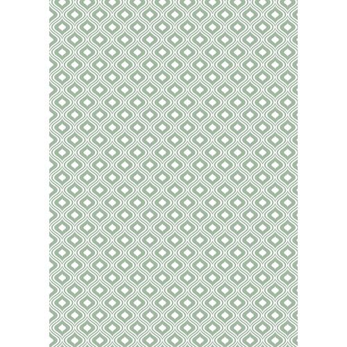 Westcott Mystic Pattern Matte Vinyl Backdrop with Grommets (5 x 7', Green)