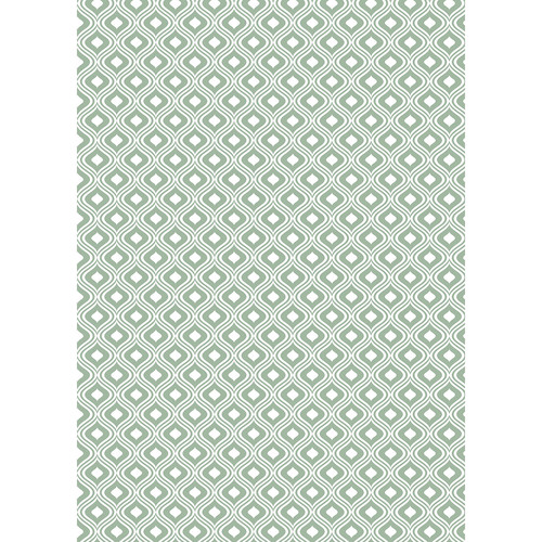 Westcott Mystic Pattern Matte Vinyl Backdrop with Grommets (5 x 7', Green)