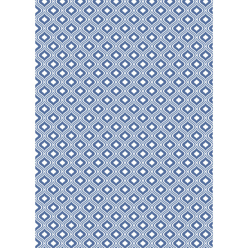 Westcott Mystic Pattern Matte Vinyl Backdrop with Grommets (5 x 7', Navy Blue)