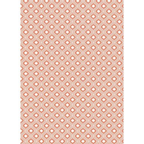 Westcott Mystic Pattern Matte Vinyl Backdrop with Grommets (5 x 7', Orange)