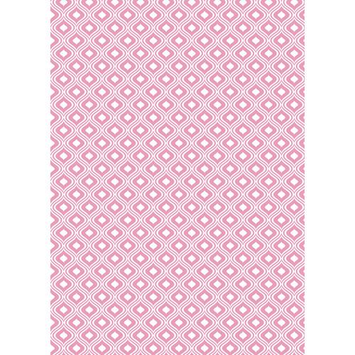 Westcott Mystic Pattern Matte Vinyl Backdrop with Grommets (5 x 7', Pink)
