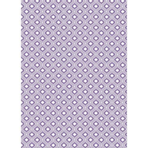Westcott Mystic Pattern Matte Vinyl Backdrop with Grommets (5 x 7', Purple)