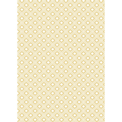 Westcott Mystic Pattern Matte Vinyl Backdrop with Grommets (5 x 7', Yellow)