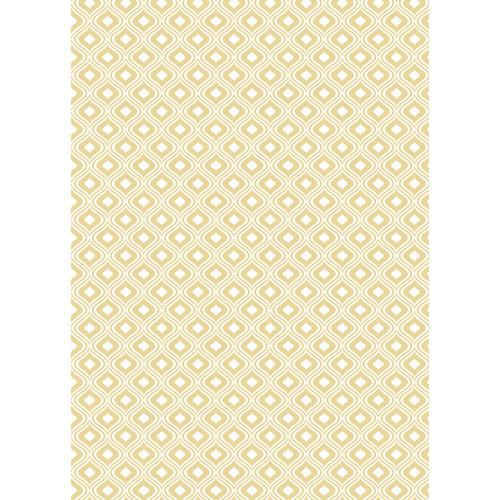 Westcott Mystic Pattern Matte Vinyl Backdrop with Grommets (5 x 7', Yellow)