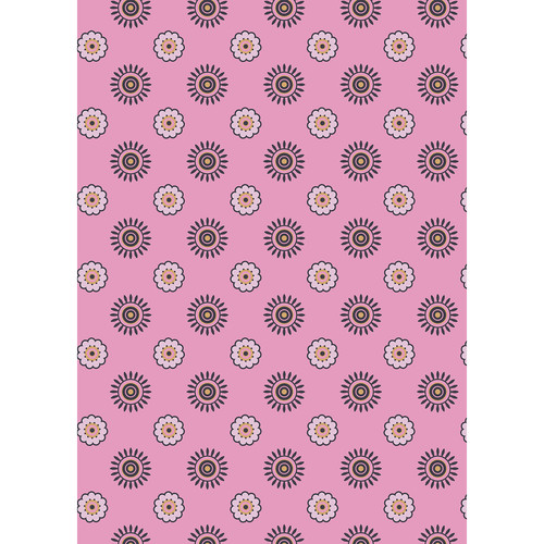 Westcott Ditsy Daisy Art Canvas Backdrop with Grommets (5 x 7', Pink)