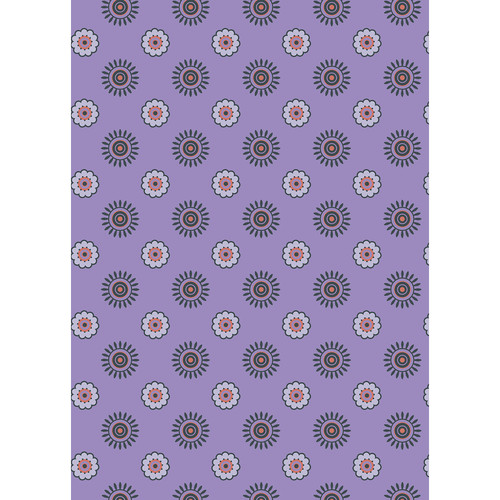 Westcott Ditsy Daisy Art Canvas Backdrop with Grommets (5 x 7', Purple)