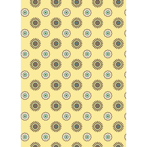 Westcott Ditsy Daisy Art Canvas Backdrop with Grommets (5 x 7', Yellow)