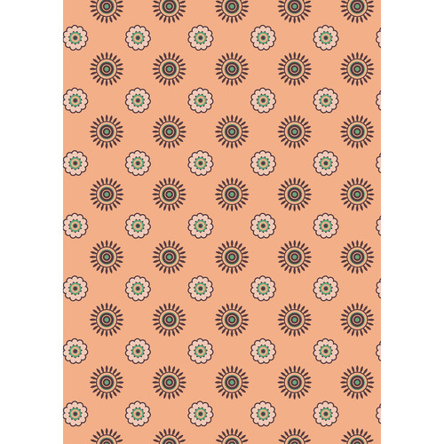 Westcott Ditsy Daisy Matte Vinyl Backdrop with Grommets (5 x 7', Orange)