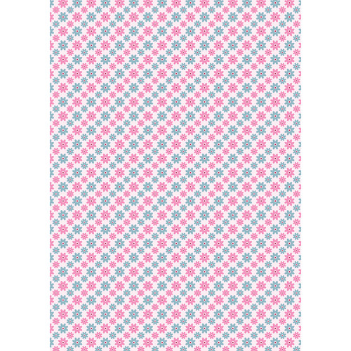 Westcott Dainty Daisies Matte Vinyl Backdrop with Grommets (5 x 7', Multi-Color)