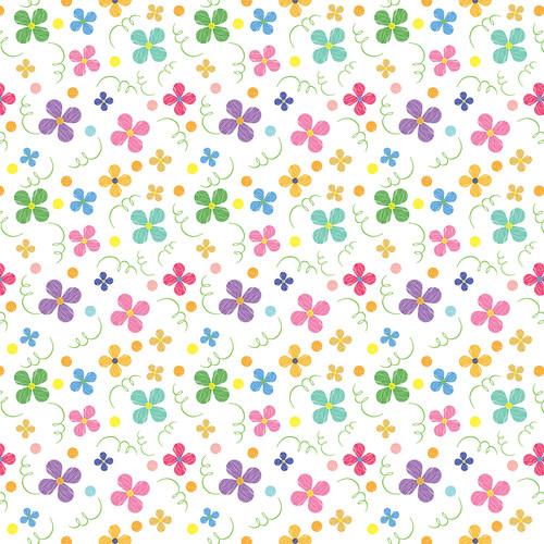Westcott Bright Playful Posies Art Canvas Backdrop with Hook-and-Loop Attachment (3.5 x 3.5', Multi-Color)