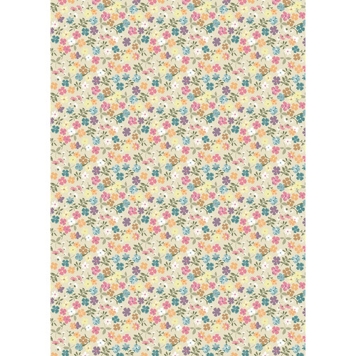 Westcott Spring Flowers Matte Vinyl Backdrop with Grommets (5 x 7', Multi-Color)