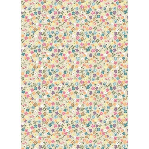 Westcott Spring Flowers Matte Vinyl Backdrop with Grommets (5 x 7', Multi-Color)