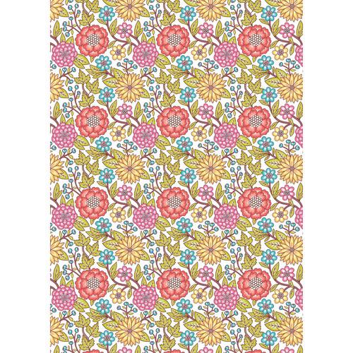 Westcott Summer Flowers Matte Vinyl Backdrop with Grommets (5 x 7', Multi-Color)