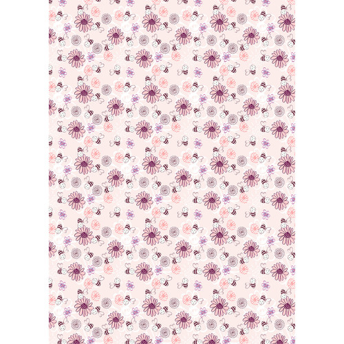 Westcott Buzzy Bee Art Canvas Backdrop with Grommets (5 x 7', Multi-Color)