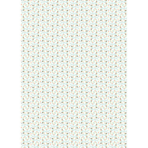Westcott Datailed Flowers Art Canvas Backdrop with Grommets (5 x 7', Multi-Color)
