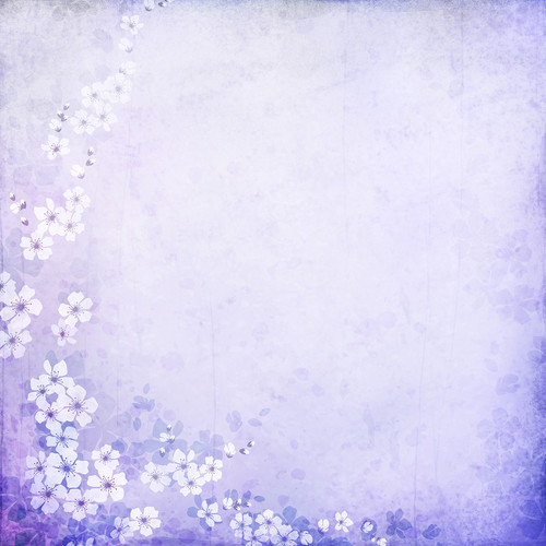 Westcott Floral Watercolor Art Canvas Backdrop with Hook-and-Loop Attachment (3.5 x 3.5', Purple)