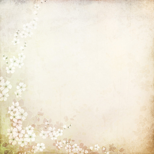 Westcott Floral Watercolor Matte Vinyl Backdrop with Hook-and-Loop Attachment (3.5 x 3.5', Brown)
