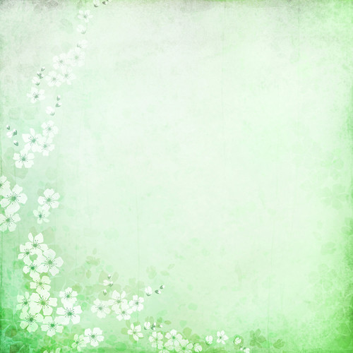Westcott Floral Watercolor Matte Vinyl Backdrop with Hook-and-Loop Attachment (3.5 x 3.5', Green)