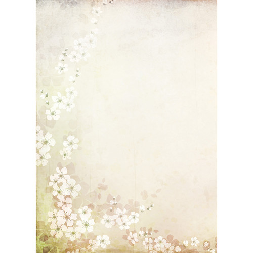 Westcott Floral Watercolor Art Canvas Backdrop with Grommets (5 x 7', Brown)