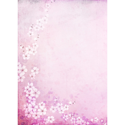 Westcott Floral Watercolor Art Canvas Backdrop with Grommets (5 x 7', Pink)