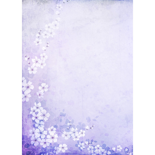Westcott Floral Watercolor Art Canvas Backdrop with Grommets (5 x 7', Purple)