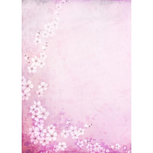 Westcott Floral Watercolor Matte Vinyl Backdrop with Grommets (5 x 7', Pink)