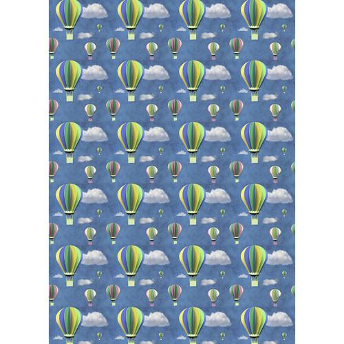 Westcott Hot Air Balloons Matte Vinyl Backdrop with Grommets (5 x 7', Multi-Color)
