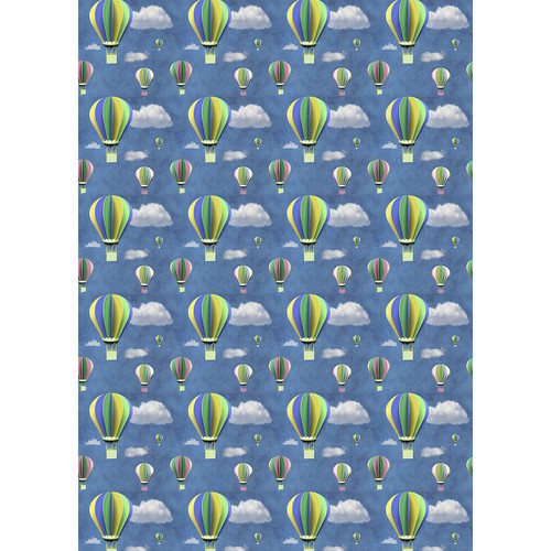 Westcott Hot Air Balloons Matte Vinyl Backdrop with Grommets (5 x 7', Multi-Color)
