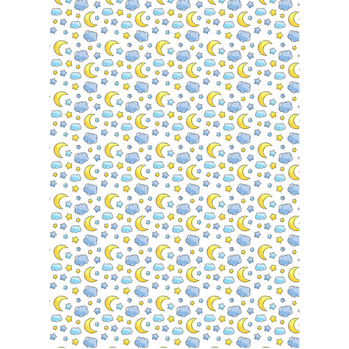 Westcott Playful Bedtime Art Canvas Backdrop with Grommets (5 x 7', Multi-Color)
