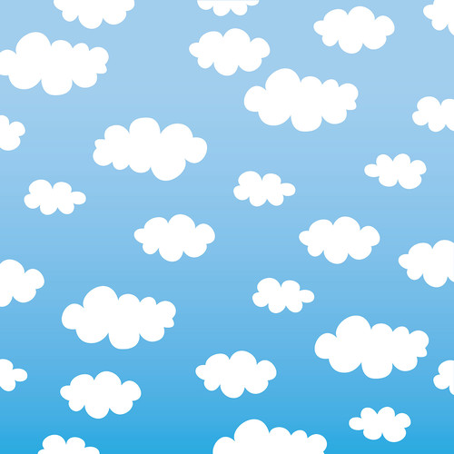Westcott Classic Clouds Matte Vinyl Backdrop with Hook-and-Loop Attachment (3.5 x 3.5', Multi-Color)
