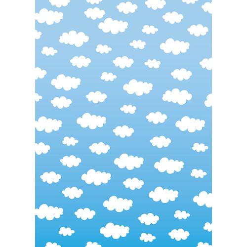 Westcott Classic Clouds Matte Vinyl Backdrop with Grommets (5 x 7', Multi-Color)