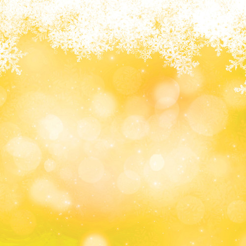Westcott Snowy Bokeh Art Canvas Backdrop with Hook-and-Loop Attachment (3.5 x 3.5', Yellow)