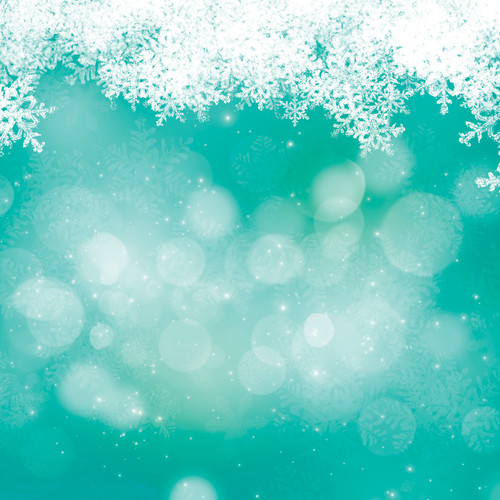 Westcott Snowy Bokeh Matte Vinyl Backdrop with Hook-and-Loop Attachment (3.5 x 3.5', Turquoise)