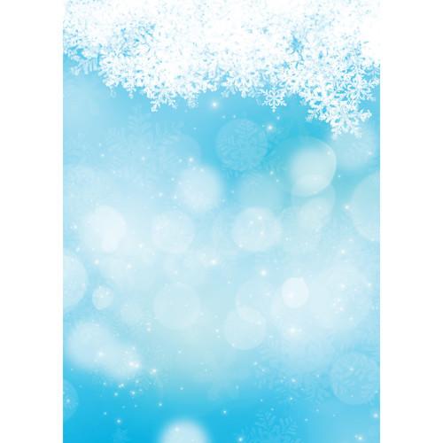Westcott Snowy Bokeh Art Canvas Backdrop with Grommets (5 x 7', Blue)