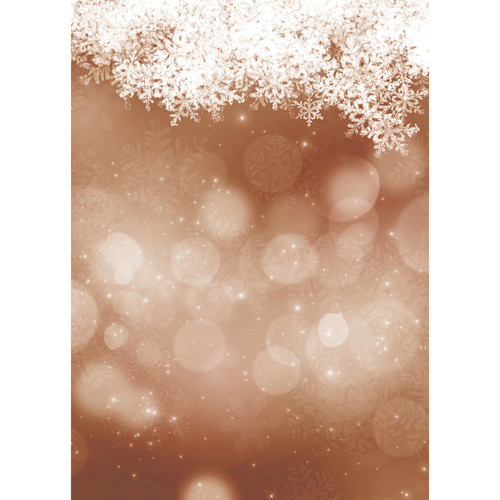 Westcott Snowy Bokeh Art Canvas Backdrop with Grommets (5 x 7', Brown)