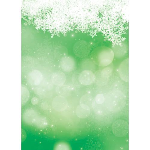 Westcott Snowy Bokeh Art Canvas Backdrop with Grommets (5 x 7', Green)