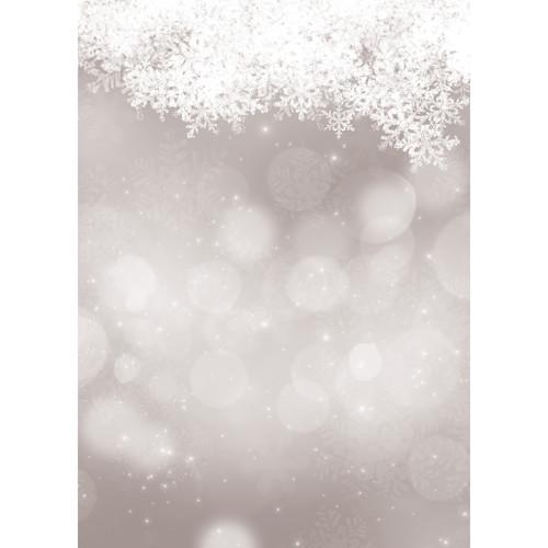 Westcott Snowy Bokeh Art Canvas Backdrop with Grommets (5 x 7', Gray)